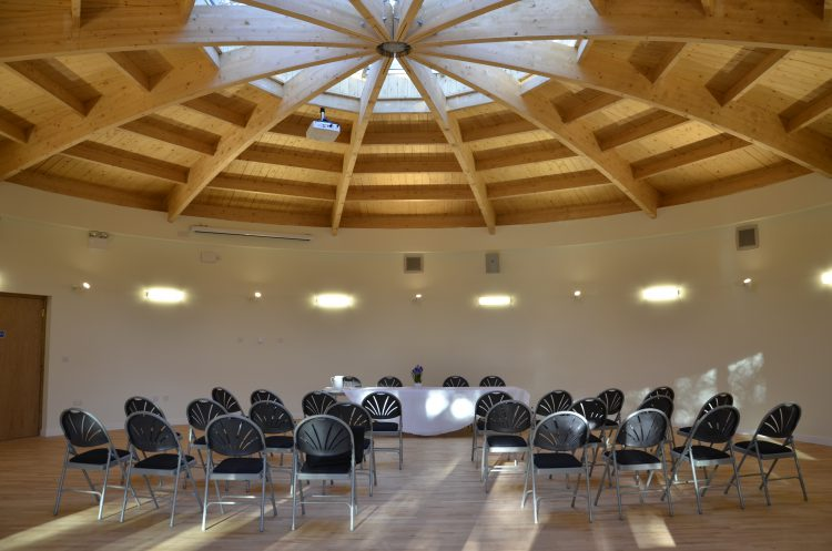 The Rotunda is a spacious round hall, with an abundance of natural light.