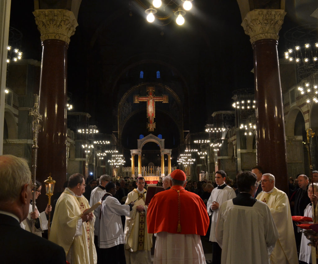Cardinal Vincent Nichols celebrates his first Mass at Westminster Cathedral since his appointment