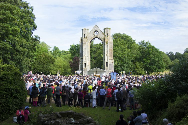 Pilgrims gather in Walsingham, a pilgrimage site in England (Photo: WYM)