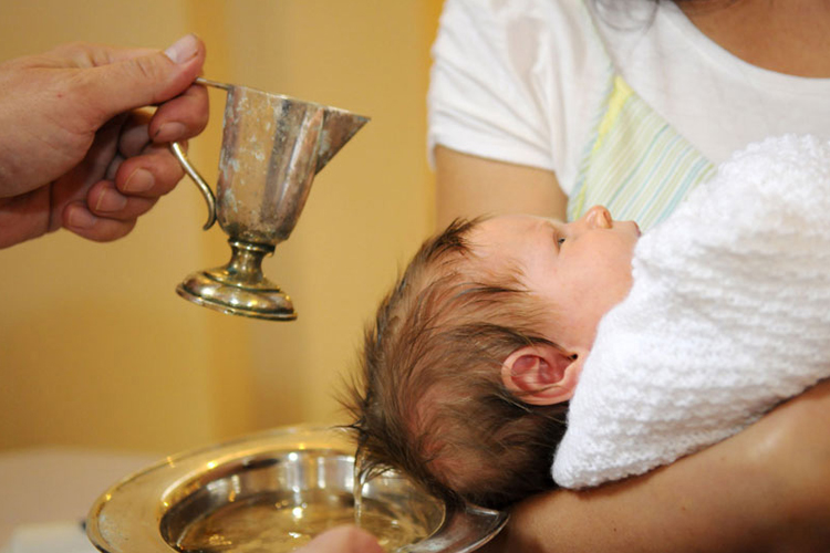 Baptism is the sacrament by which we become Christians.