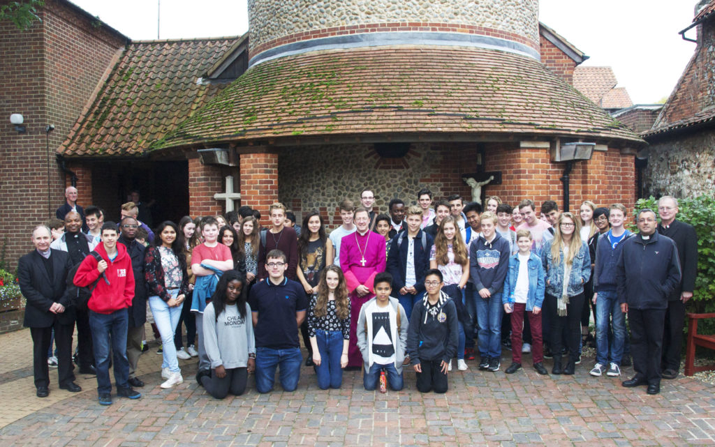 Young people from across Hertfordshire in Walsingham for the pilgrimage