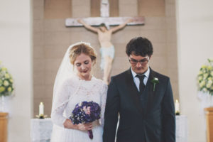 A young couple get married