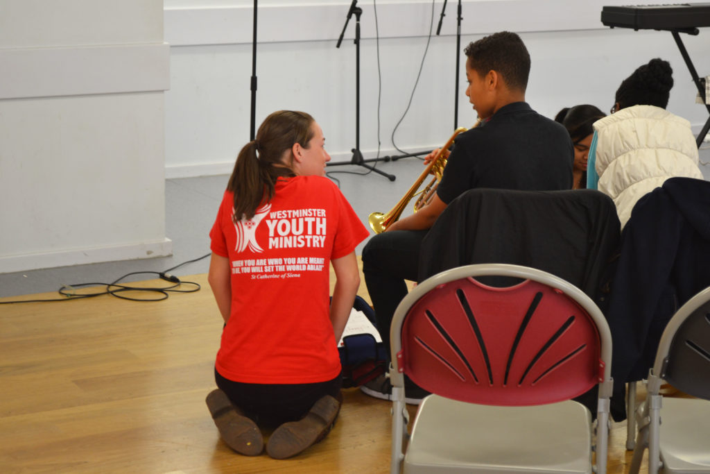 Westminster Youth Ministry's team was on hand to support the young musicians