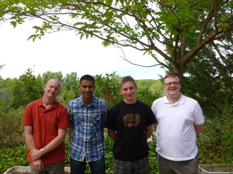 Our first picture of the propaedeutic year as seminarians for England and Wales at Country House