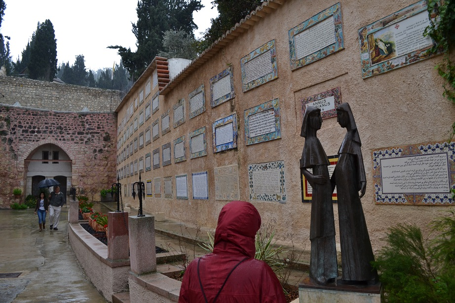 The Magnificat written in many different languages around the Church of the Visitation