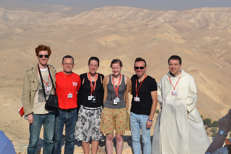The Westminster Youth Ministry team in the Wadi El Kelt desert