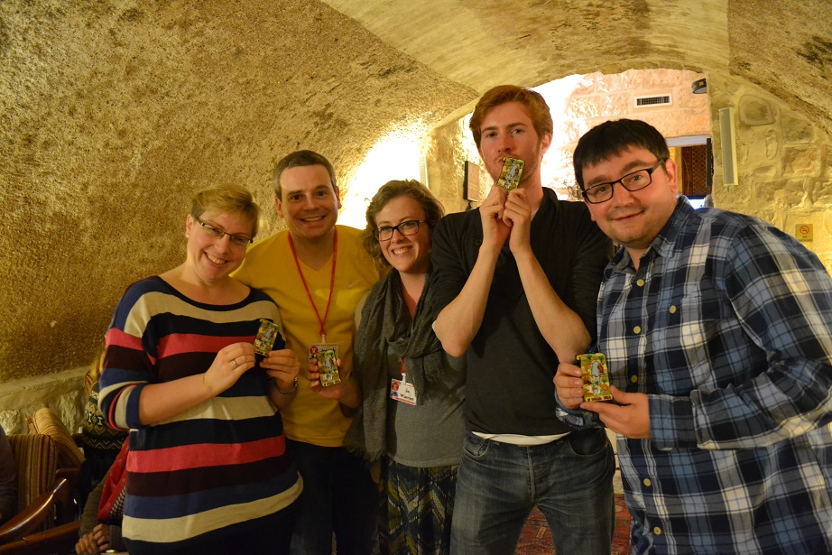 The winning team, from left to right: Eleanor, Joseph, Jo, James and James. Well done chaps!