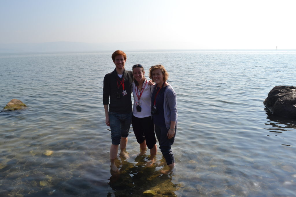 Into the Sea of Galilee!