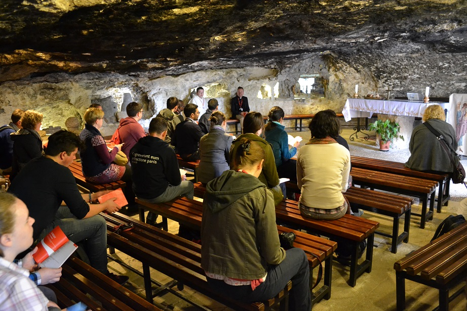 Morning prayer in a shepherd's cave