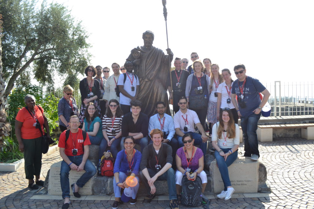 The Holy Land youth pilgrimage together with Peter!