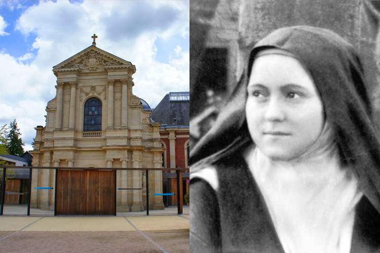 The convent in which Therese lived (Left) and a photo of Therese (Right)