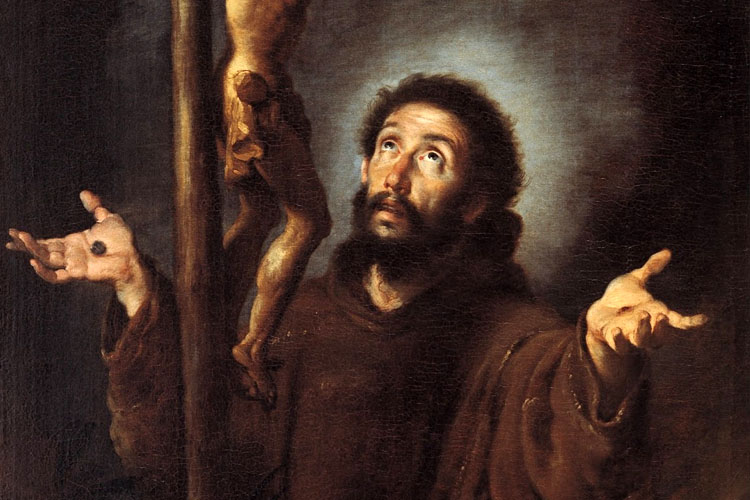 Saint Francis of Assisi (1181-1226) was the son of a noble woman and rich merchant and is considered the founder of all Franciscan orders.