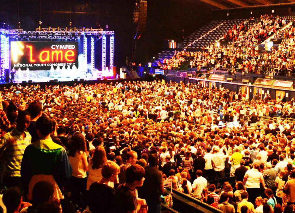 Thousands of young Catholics from around the country attending Flame 1 back in 2012