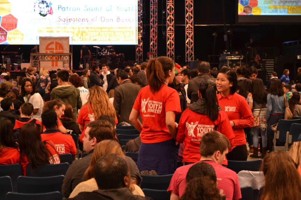 Westminster Youth Ministry had a big presence at Flame