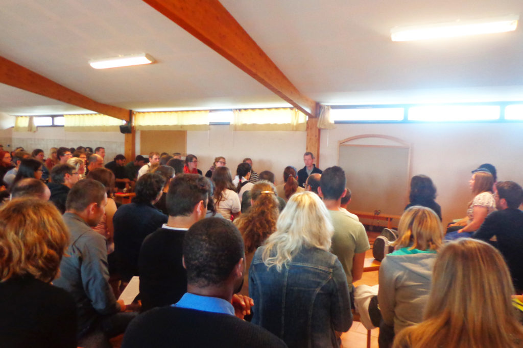 One of the workshops at Taize