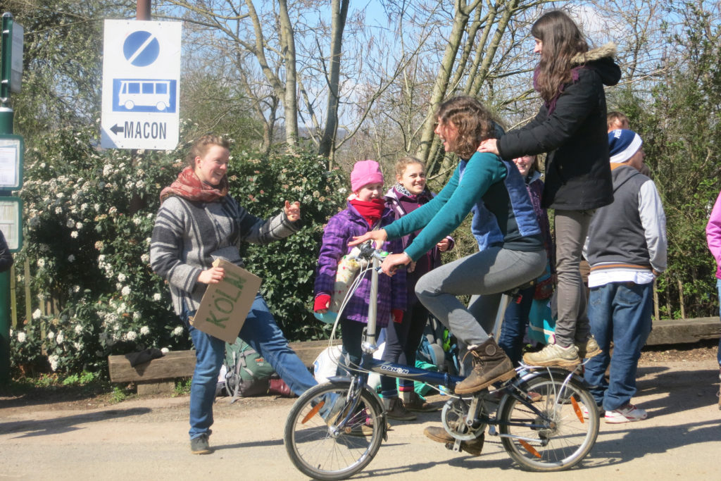 People having fun on Sunday afternoon at Taize