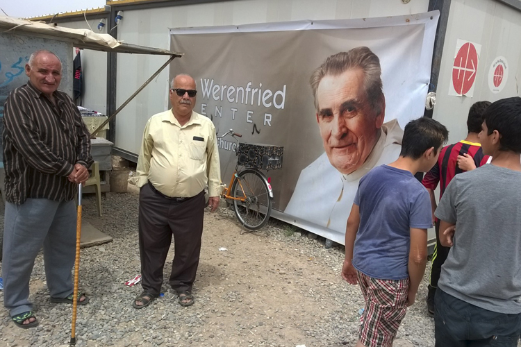 Father Werenfried Village in Erbil for displaced families, which was visited by the bishops from the UK