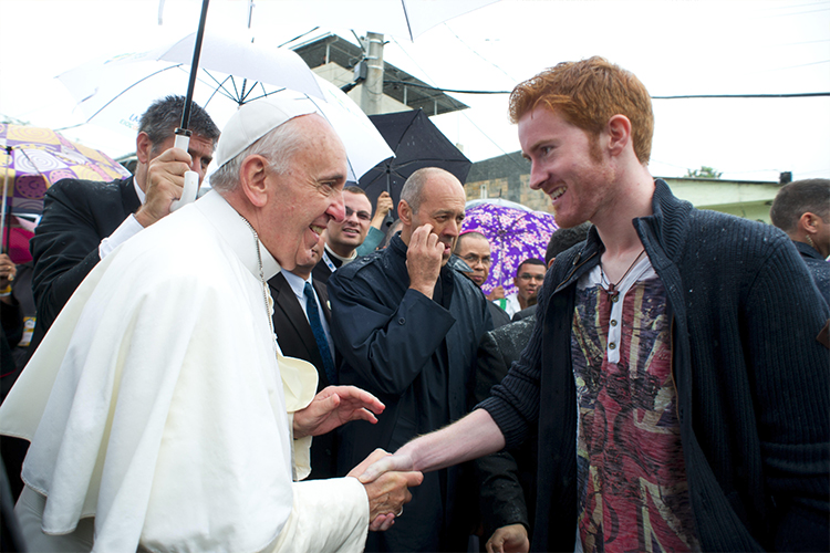 A British pilgrim meets Pope Francis at the last World Youth Day