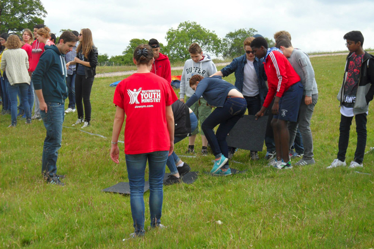 Westminster Youth Ministry with the young people at Wintershall