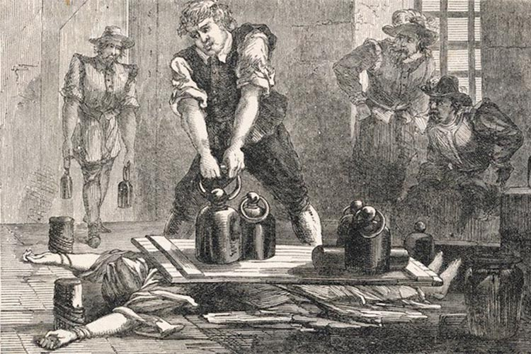 The method of Margaret Clitherow's death - being crushed to death