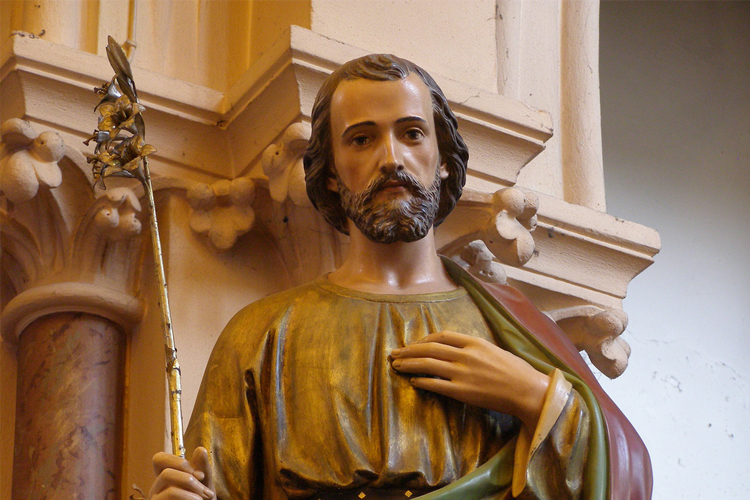 Saint Joseph was Jesus' foster father. He was a carpenter who helped to bring up Jesus, and was a widower before he was betrothed to Mary.