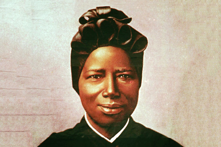 Born in Sudan, Saint Josephine Bakhita was a daughter of the village chief's brother. She was later kidnapped and made a slave, before attaining freedom.