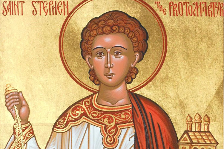 Saint Stephen was one of the first Christians and the first person to be martyred for Christ, only a year after Jesus' death.