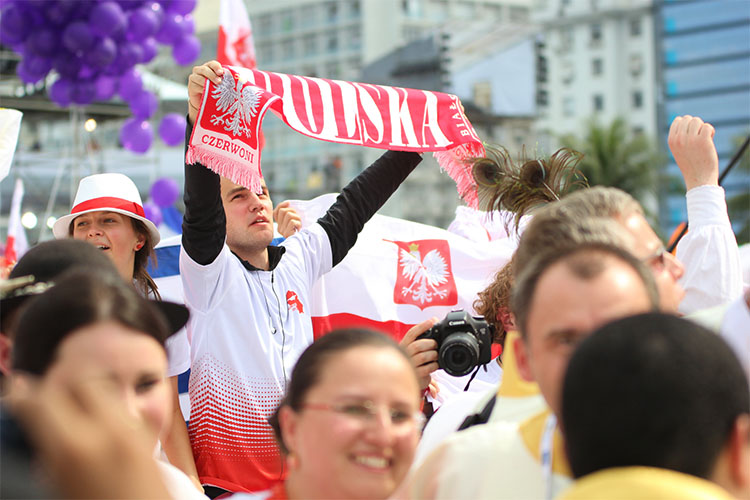 Polish pilgrims at the last World Youth Day