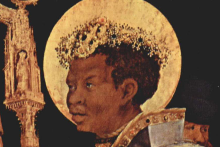 Saint Maurice of Africa was born in 250 in Egypt. He became a soldier in the Roman army and was gradually promoted until he became the leader of the Theban legion.