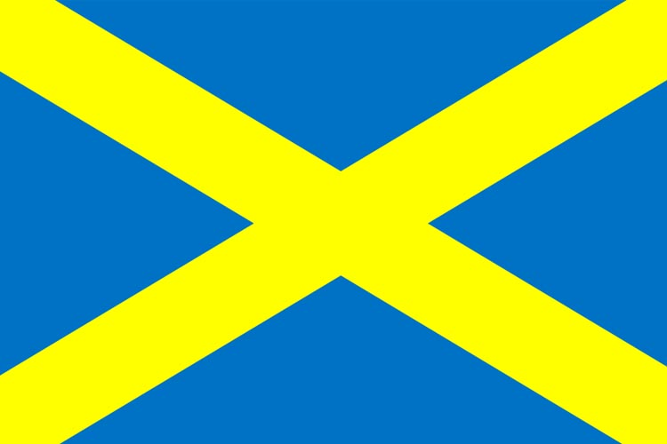 The flag of St Alban