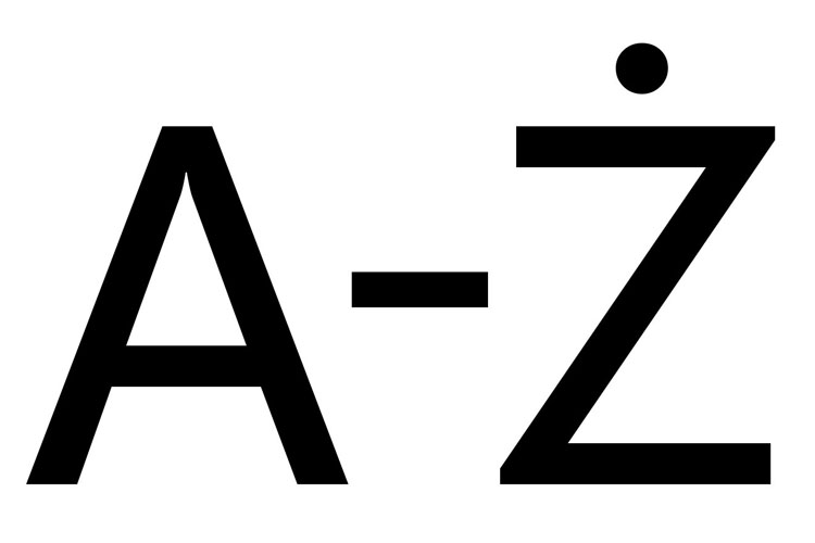 A to Z in Polish