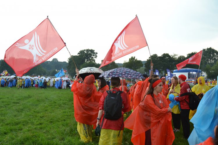 We made our way in Błonia Park, all very wet (Photo: WYM)