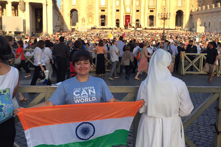 Ciara at the canonisation of Mother Teresa (Photo: Ciara O'Reilly)