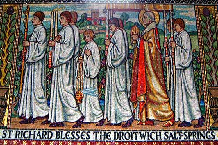 Saint Richard de Wyche was born just outside the town of Wyche, now modern day Droitwich, in Worcestershire.