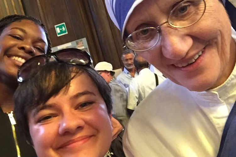 Selfie with Sister Mary Prema MC (Photo: Ciara O'Reilly)