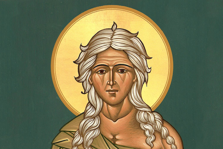 Saint Mary of Egypt was a prostitute before having a powerful conversion whilst on pilgrimage, which completely changed her life.