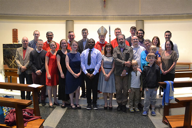 The SPEC community with Bishop John Sherrington (Photo: WYM)