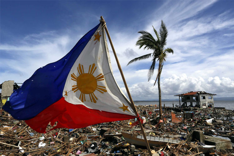 Damage after Typhoon Haiyan hit the Philippines