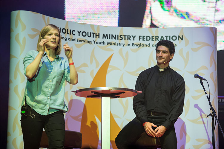 Fr Augusto Zampini talks about some of our social responsibilities (Photo: CBCEW)