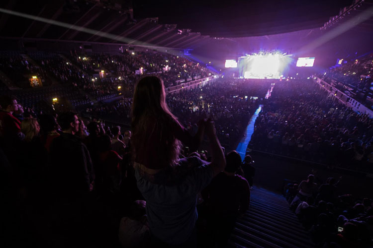 10,000 young people filled Wembley Arena (Photo: CBCEW)