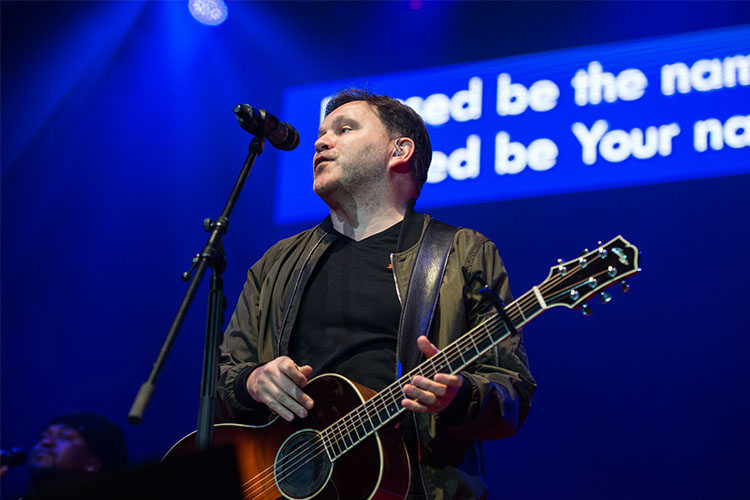 Matt Redman lit up the crowd with a number of inspiring songs (Photo: CBCEW)