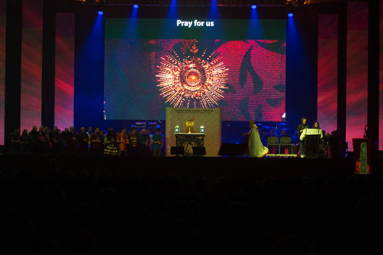 The highlight of the day was spending a few moments with Jesus in adoration (Photo: CBCEW)