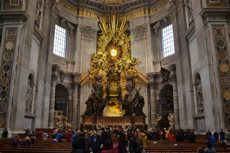 Attending a Mass at St Peter's Basilica in the Vatican City (Photo: WYM)