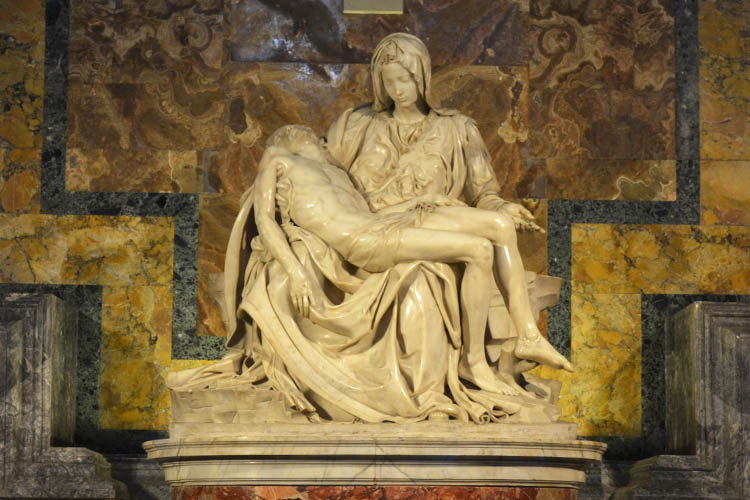 Michelangelo's Pieta in St Peter's Basilica (Photo: WYM)