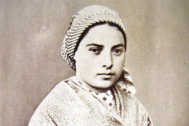 Saint Bernadette (1844-1879) is a French saint from Lourdes. She is best known for a series of Marian apparitions where Mary asked for a chapel to be built.