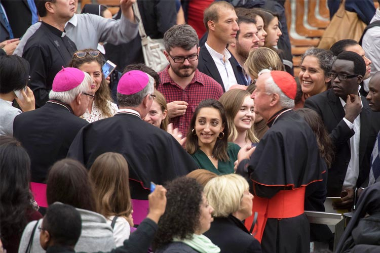 British pilgrims attend the Synod on Young People (Photo: Mazur/catholicnews.org.uk)
