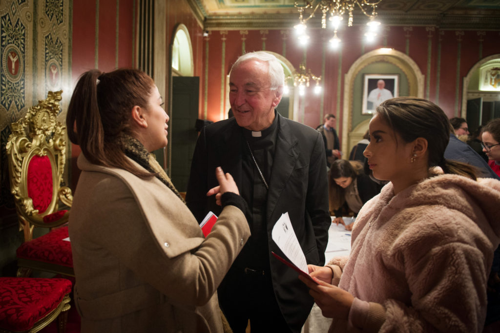 Cardinal shares Synod reflections with young people