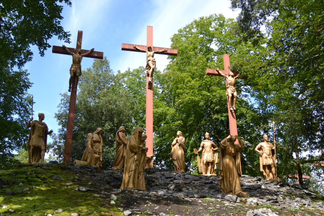 One of the Stations of the Cross in Lourdes, France (Photo: Westminster Youth Ministry)